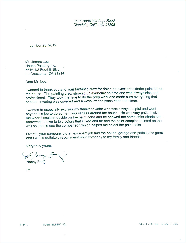 Sample Re mendation Letter From Landlord 30022306
