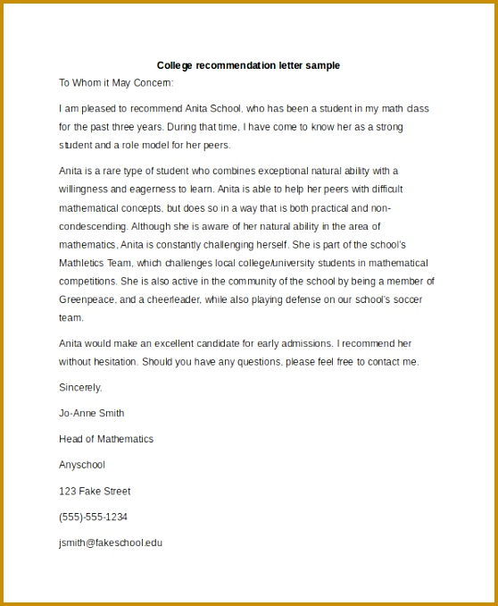 Bunch Ideas Sample Re Mendation Letter Format Excellent Student Re mendation Letter Format of Student 678558