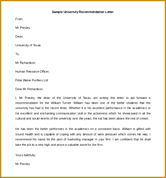 Reference Letter format Functional Picture University Collection solutions Writing A University Re mendation Letter 585544