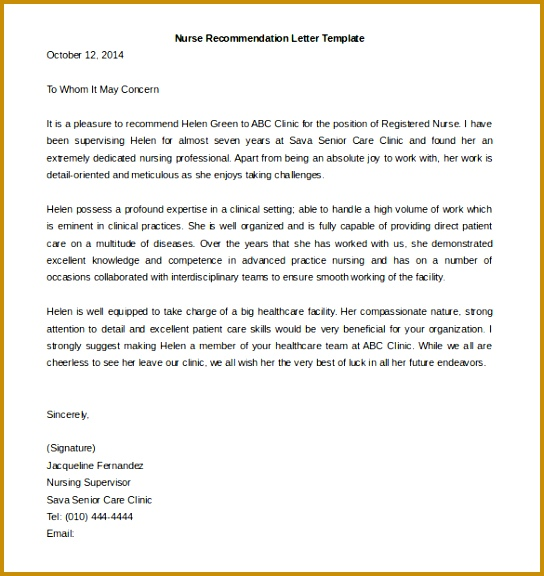 Format Letter Re mendation 21 Re mendation Letter Templates Free Sample Example Format 576544