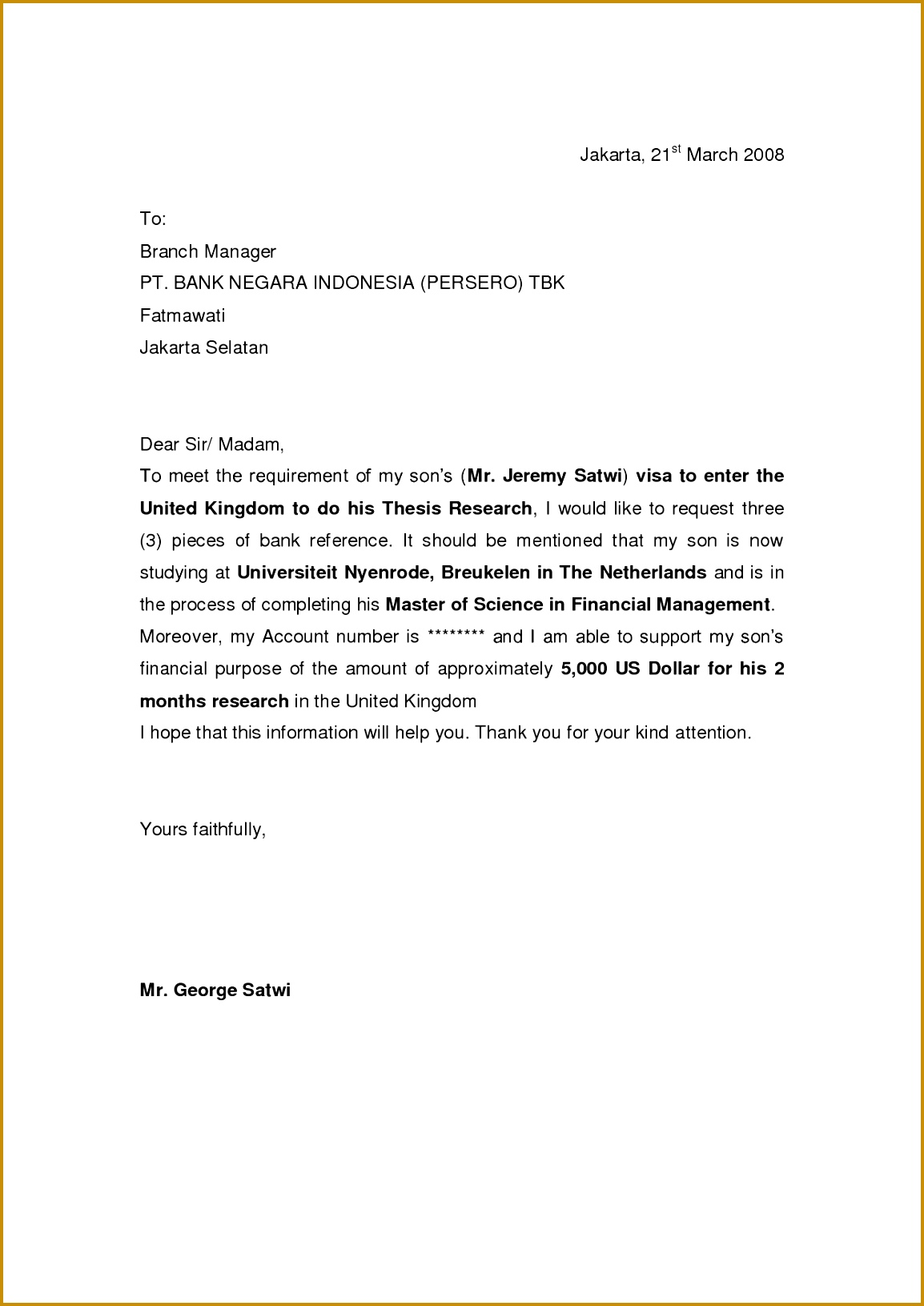 Sample Immigration Reference Letter Template on for support marriage, written sister, professional character, address send, for employee, for married couple, personal recommendation for, moral character,