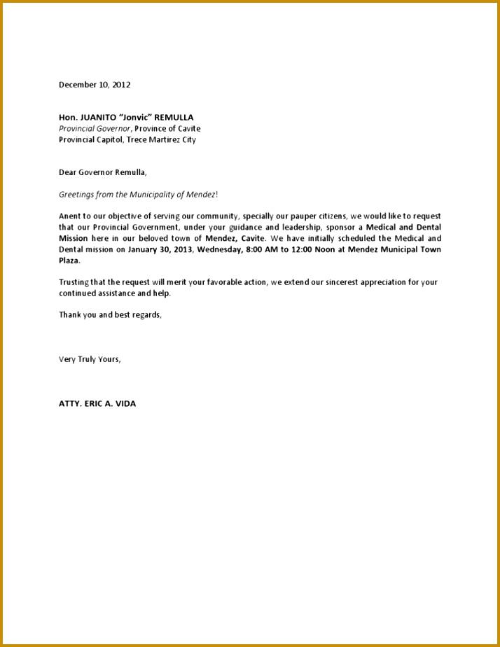 Request Letter For Financial Assistance 45186 8 Application Letter