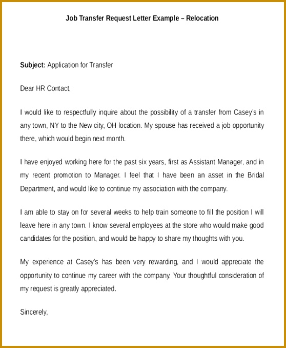 Job Location Transfer Request Letter Example 20 Transfer Letter Templates In Pdf Free Premium 558678