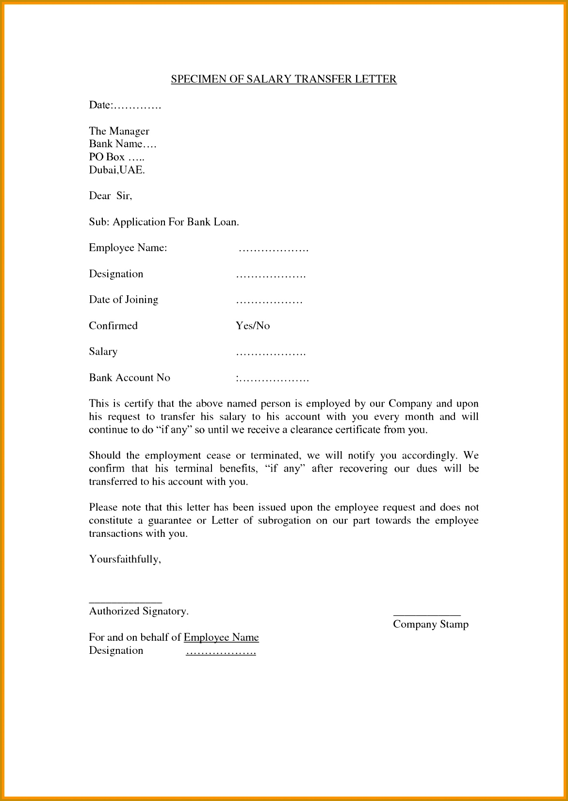 employee transfer letter format job transfer letter from 16491171