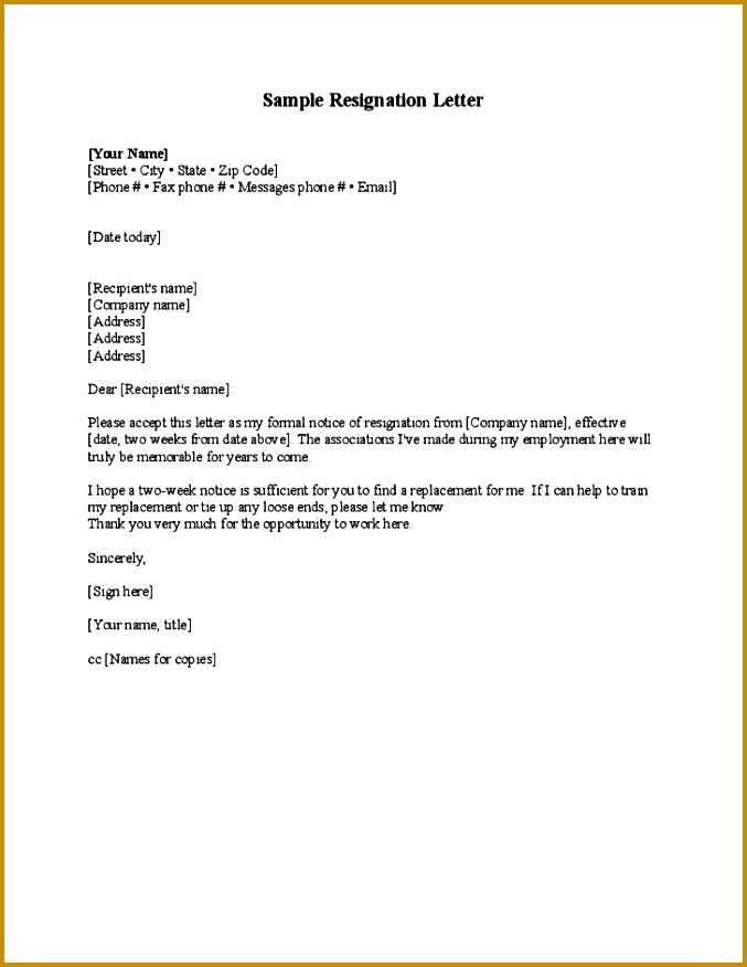 Free Resignation Letters Sample Resignation Letters Blank Resignation Letter Template Free Download Basic Letter Resignation 876677