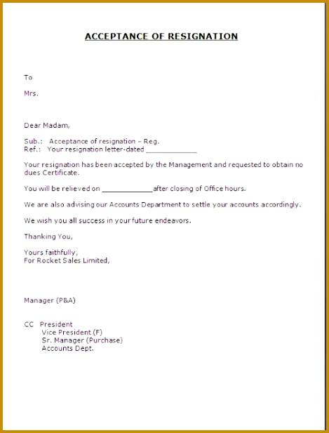 Sample Acceptance Letter Resignation Resignation Letter Acceptance Resignation Letter Writing Tips Employee Acceptance Letter Job 617469