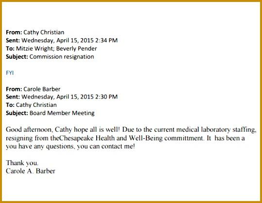 Sample Resignation Email Subject 418539