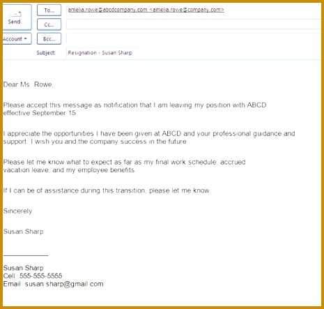 Resignation Letter Sample with 24 Hours Notice Resignation two week resignation letter sample 465443