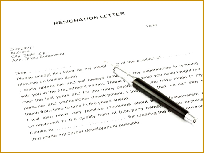How to write a resignation letter 522697