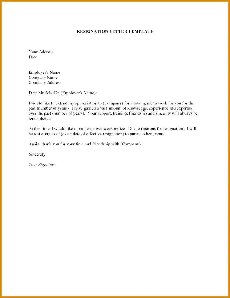Template 1 Month Notice 6 Letter Resignation Director Short Resignation Letter Resignation Letter Format How To A Uk No Notice 965748