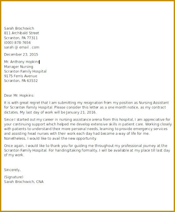 What s More Picture showed above is Awe inspiring Nurse Resignation Letter Sample 678558