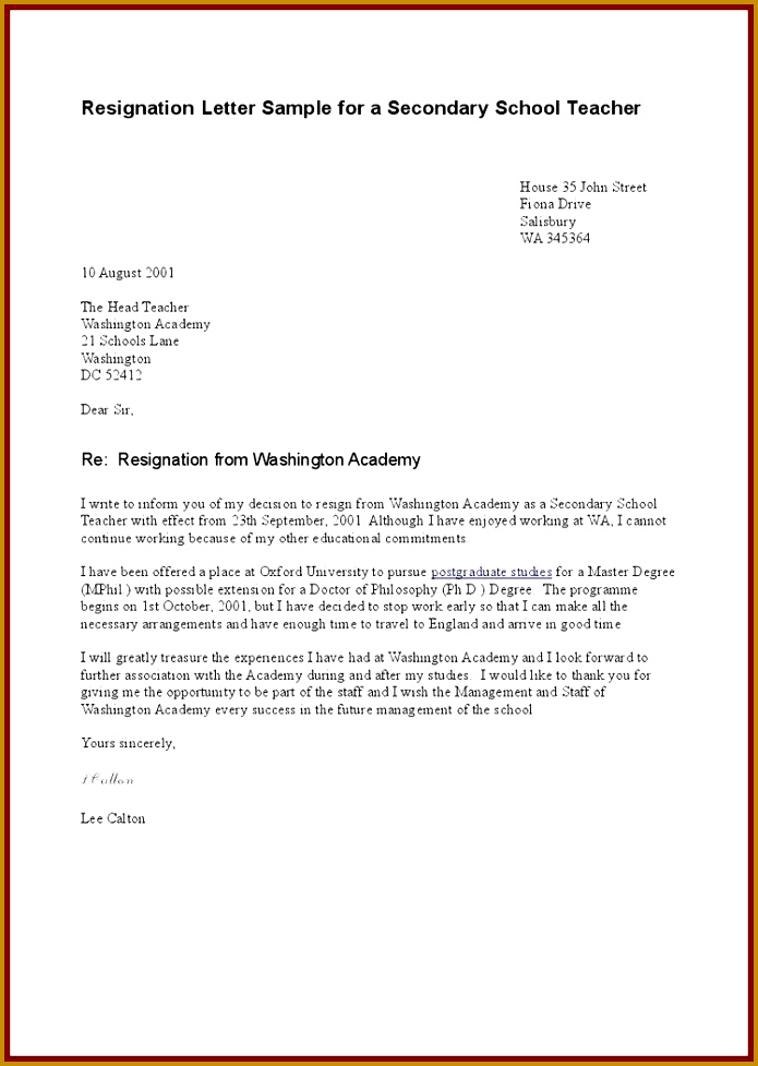 Great Resignation Letter Teacher Template Uk with Additional Sample Resignation Letter Teacher Uk – Letter format 695977