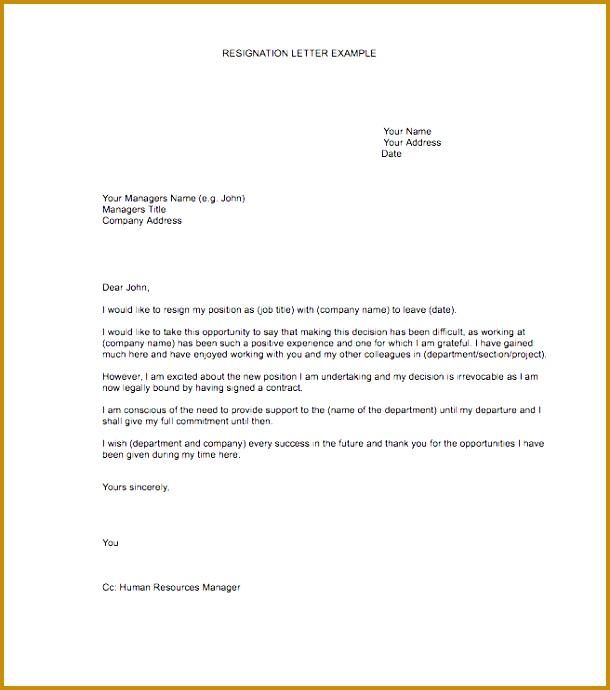 resignation letter templates 610690