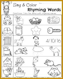 Spring Kindergarten Worksheets 274219