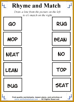 Rhyming Words Worksheet 4 334243