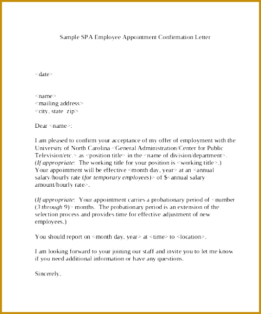 Job Confirmation Letter Fruwp New Sample Job Appointment Letter 7 Examples In Word Pdf 644535
