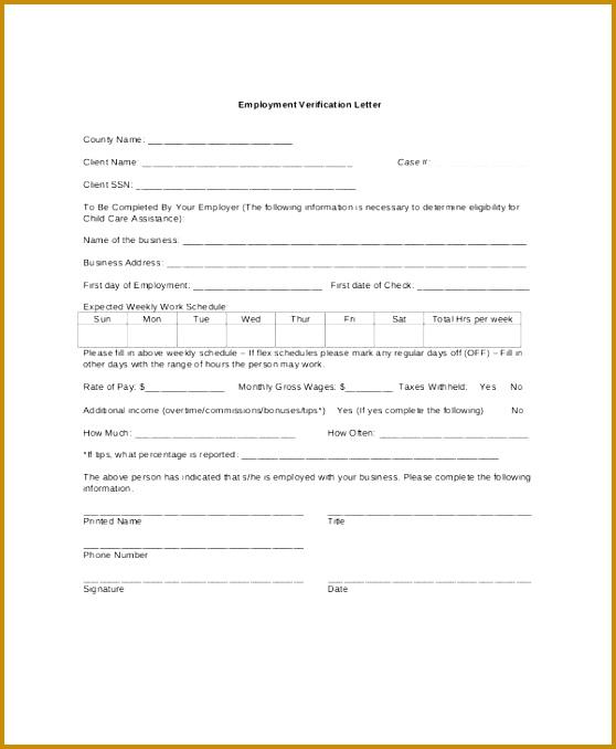 In e Verification Letter Sample Format 678558