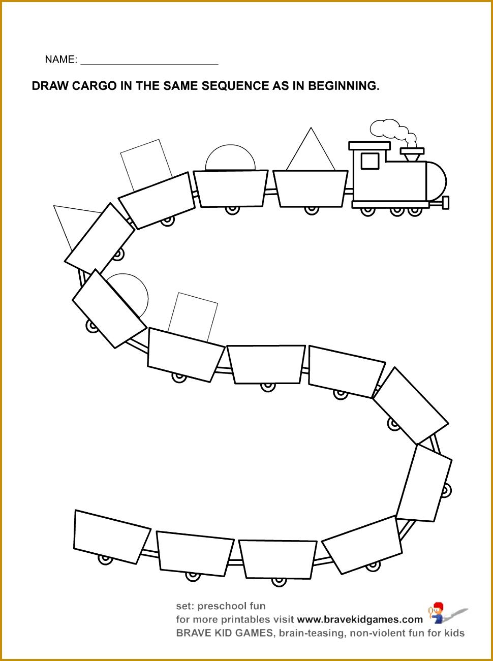 train worksheet for kids 1301970