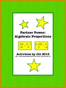 Partner Power Algebraic Proportions 292219