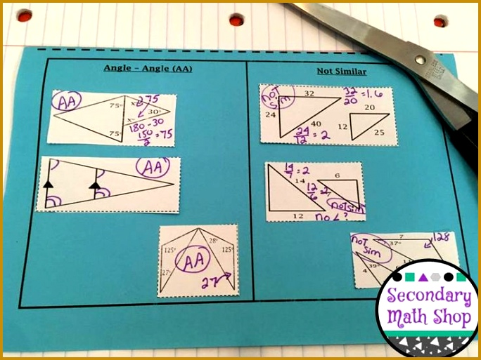 Similar Triangles Methods for Showing Similarity Cut and Paste Interactive Notebook PagesIn this fantastic set 513684