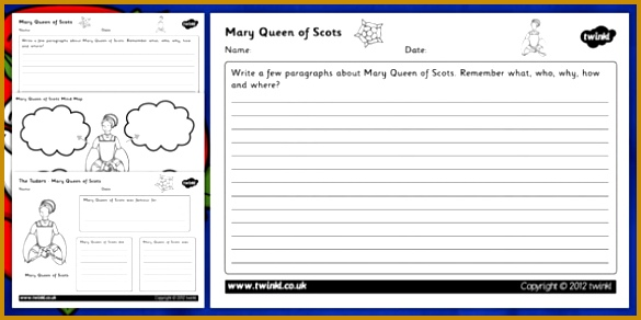 Tudors Mary Queen of Scots Mind Maps and Worksheets mary queen of scots mary 292585