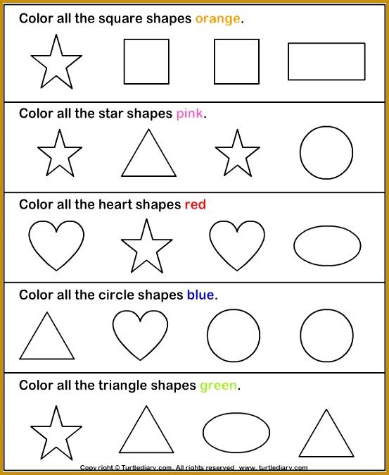 Shapes math Worksheets preschool Worksheets by janelle 674553