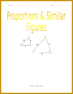 Proportions & Similar Figures 325251