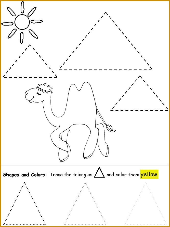 Triangle worksheets and coloring pages shapes triangles worksheets daycare preschool 890667