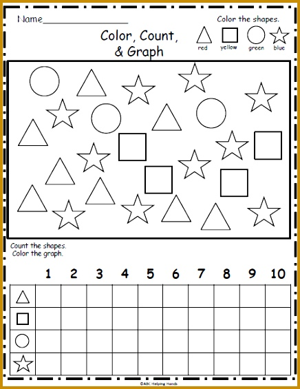 Free Shapes Graphing Color count and graph the following shapes circle 565436