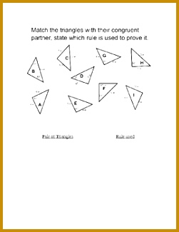 Students use SSS SAS ASA to determine if two triangles are congruent 325251