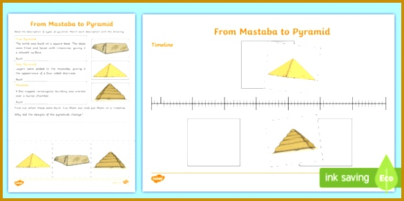 Different Types of Egyptian Pyramid Worksheet Activity Sheet CfE Social Stu s Ancient 292585