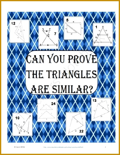 Sort AA SAS SSS Showing Triangles are Similar Similarity 511395