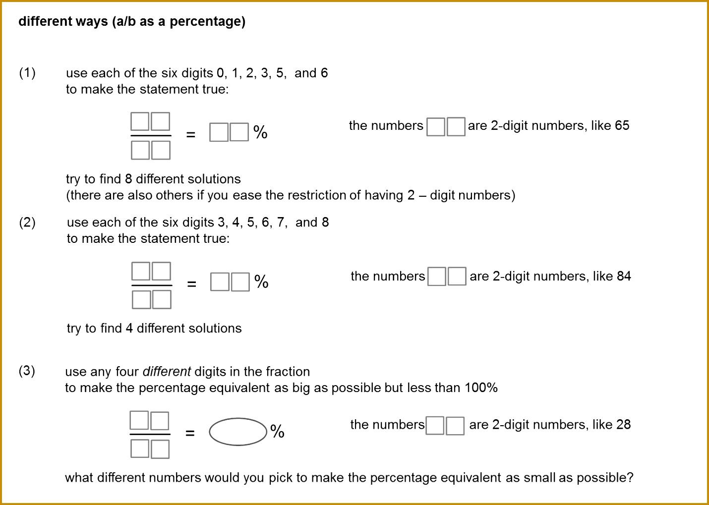 Fractions to percentages Dan Walker Median Don Steward 10191430
