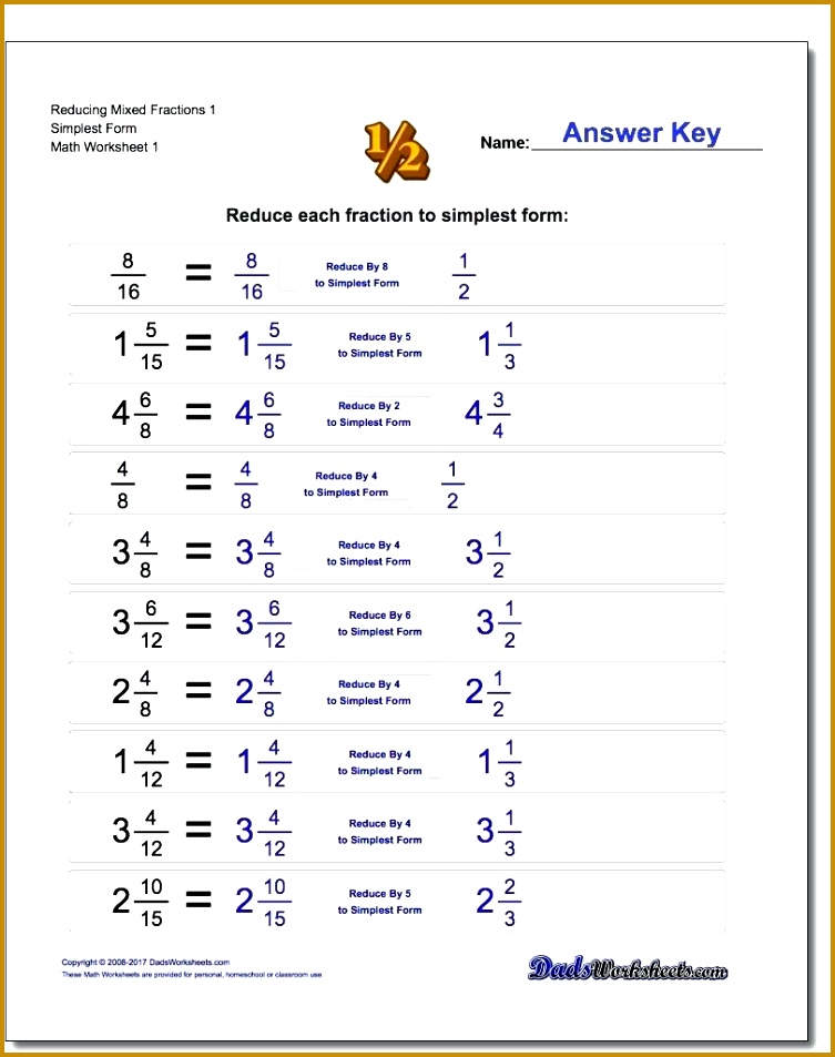 Improper And Mixed Fractions Worksheets Reducing With 953753