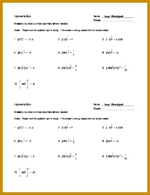Simplifying Rational Exponents Error Detection Worksheet 219283