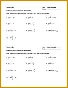 Simplifying Rational Exponents Error Detection Worksheet 219283