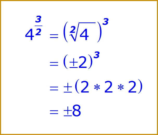 Math Fractional Exponent pute the Square Root First example 2 519607