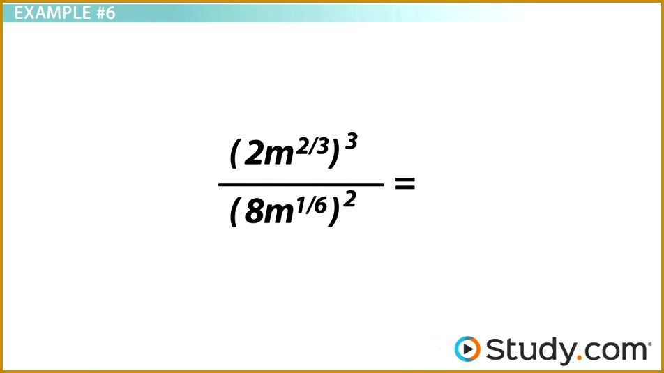 Simplifying Expressions with Rational Exponents Video & Lesson Transcript 535952