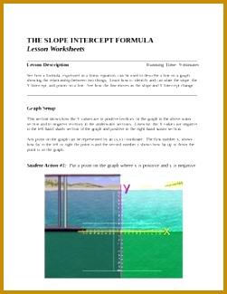 Slope Intercept Lesson and Story Problem Worksheets 325251