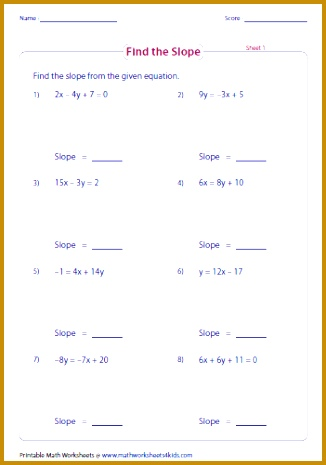 graph from slope intercept form worksheet Google Search 465326