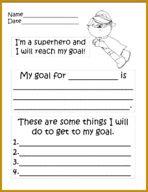 Superhero Goal Setting 385298