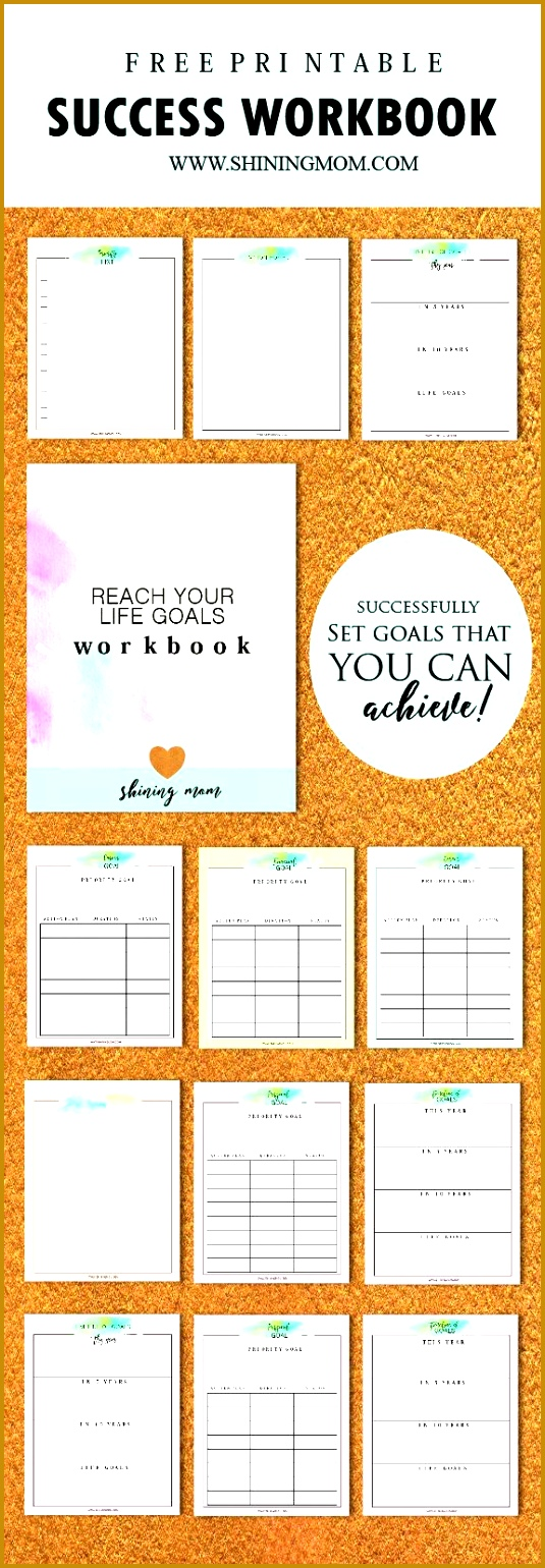 Download your free Success Workbook and Goal Setting Worksheets newsletter subscription required 1540535