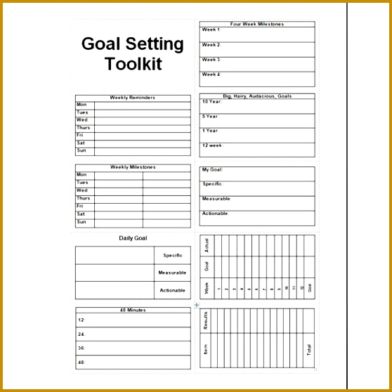 is ONE example of a goal setting worksheet I am the type of person who likes to write everything out I am visual and I like to look at some… 558558
