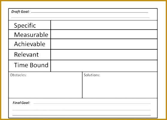Goals Smart Goals WorksheetGoal 399558