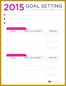 Goal Setting Worksheet 283219