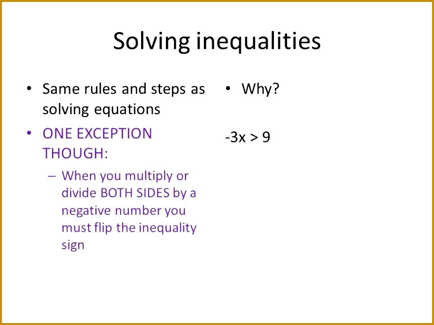 5 Solving inequalities 892669