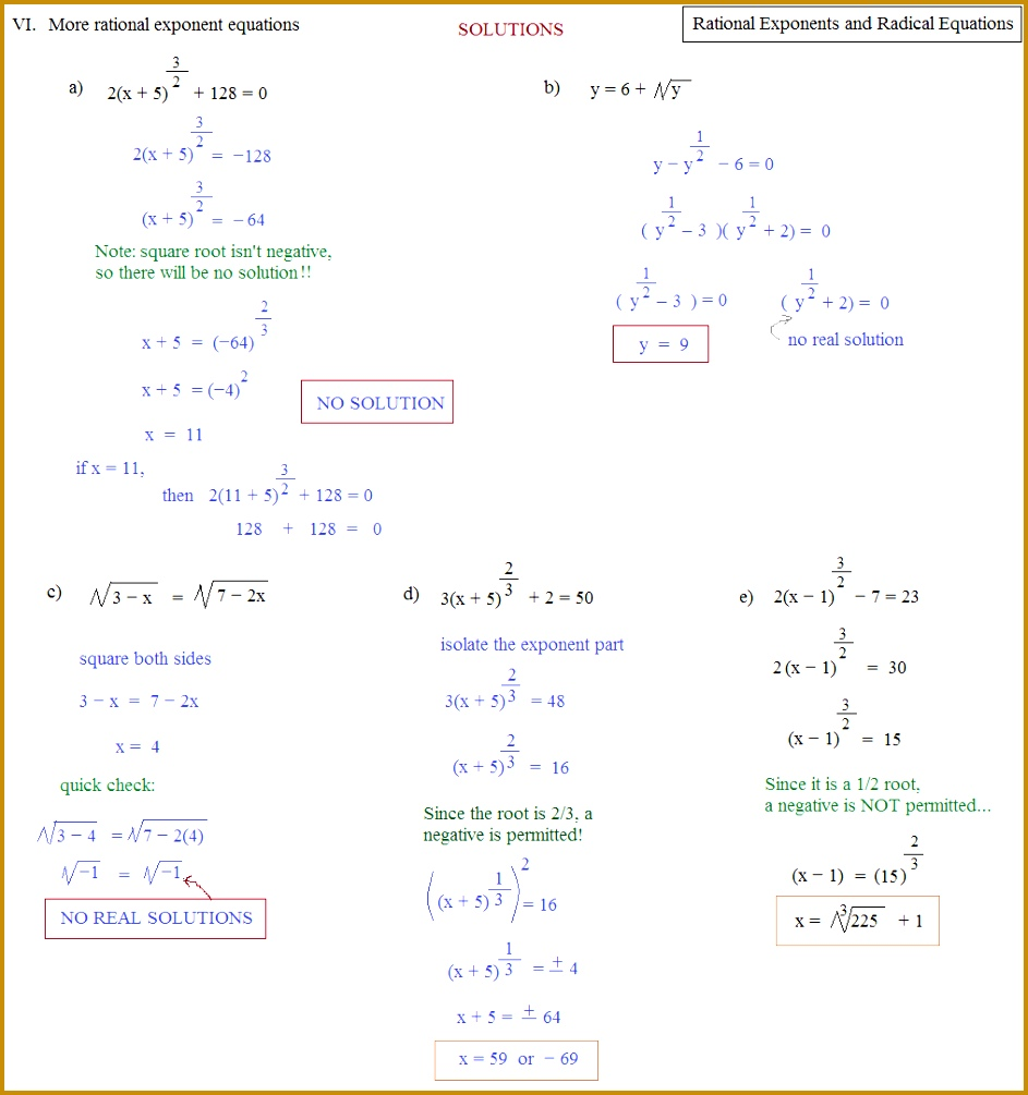 Solving Quadratic Equations With Rational Exponents Tessshlo 1005943