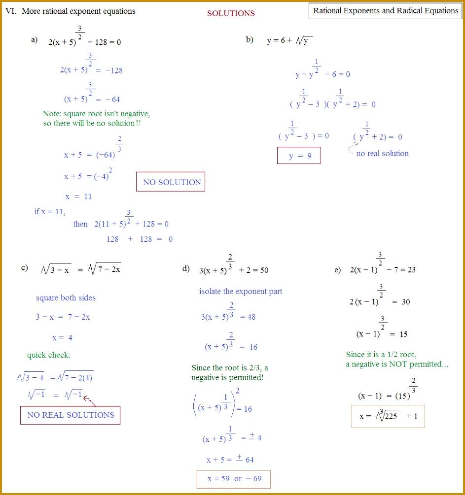 Solving Quadratic Equations With Rational Exponents Tessshlo 1005943