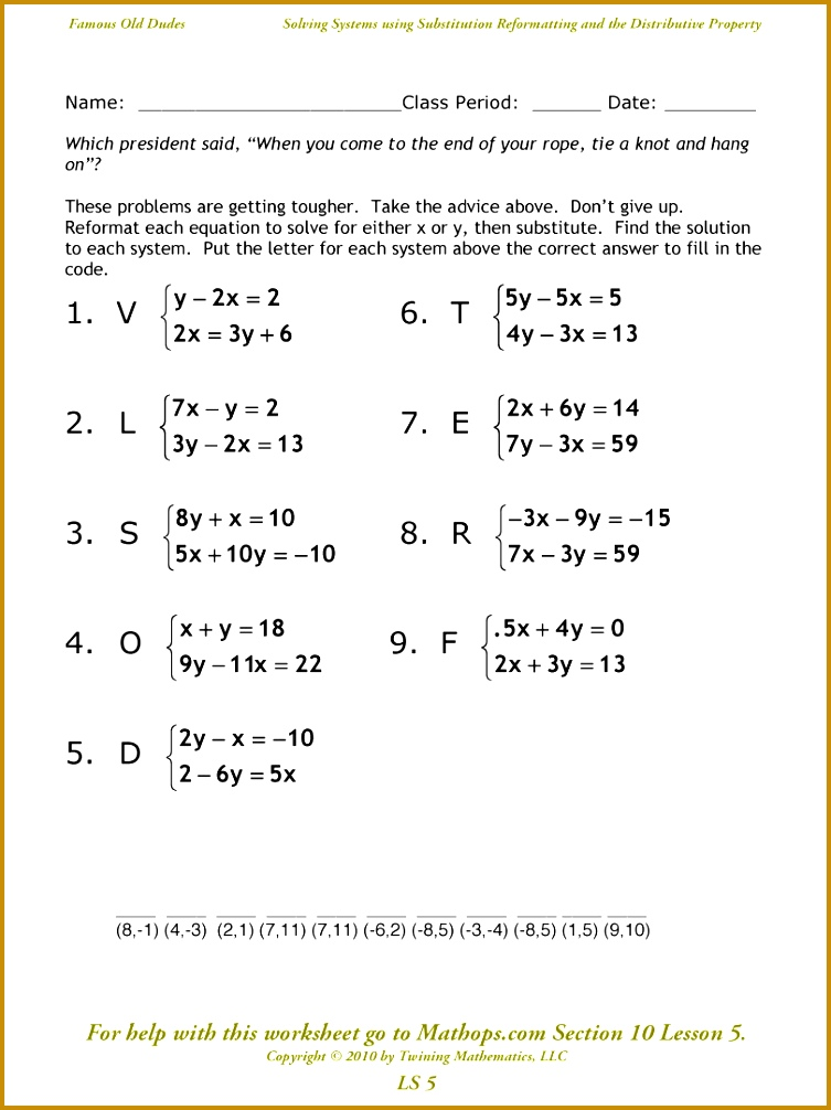 Solving Systems Equations With 3 Variables Worksheet 1006753