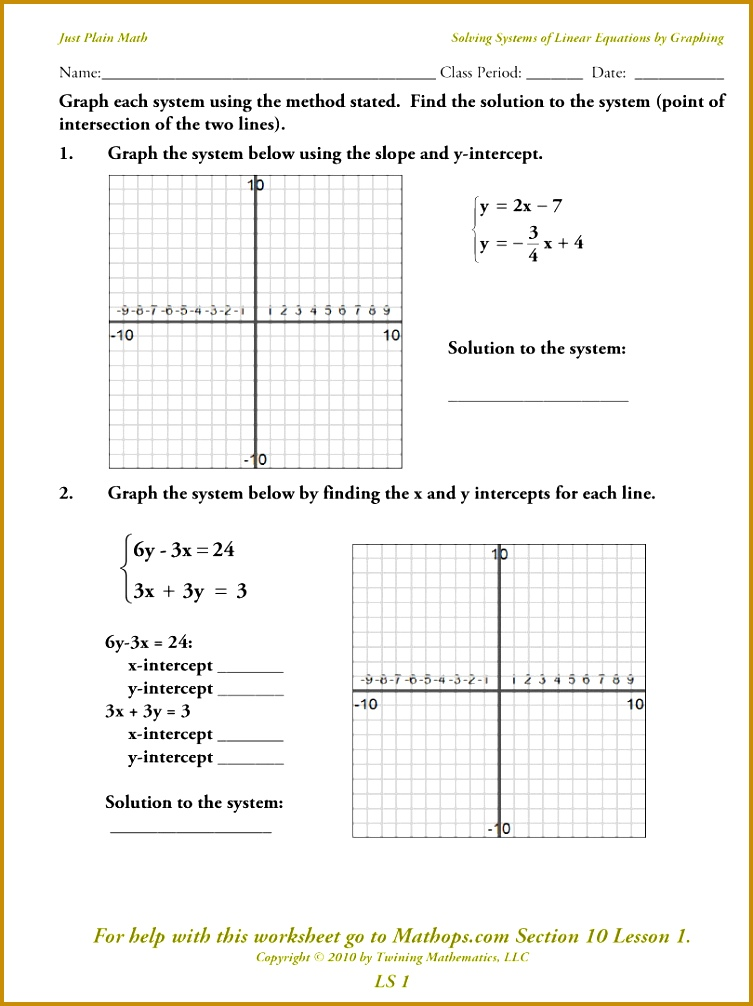 Systems Linear Equations In Three Variables Worksheet 7531006